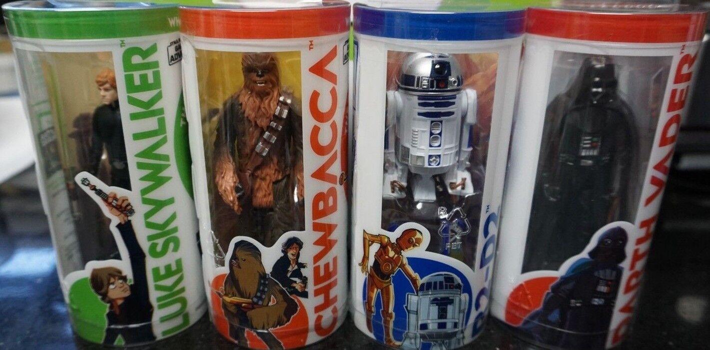 Star Wars Galaxy of Adventure 3.75  DARTH VADER R2-D2 LUKE SKYWALKER CHEWBACCA