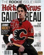 Johnny Gaudreau Calgary Flames Signed Autographed Hockey News Cover 8x10