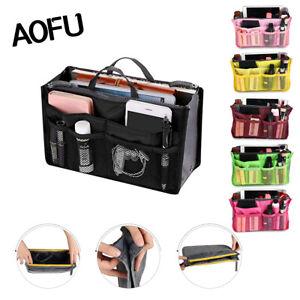 Travel-Handbag-Organiser-Purse-Liner-Bag-Women-Storage-Insert-Makeup-Tidy-Bag