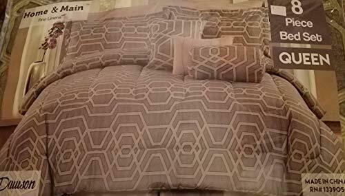 Fine Linens 8 Piece Queen Comforter Set by Dawson