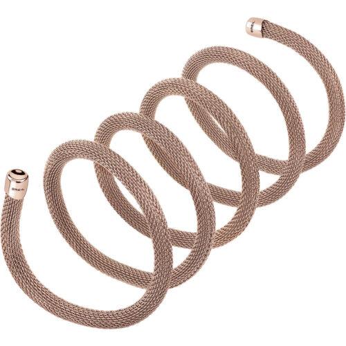 Bracciale Donna Acciaio New Snake 80 cm Rose Breil TJ2718