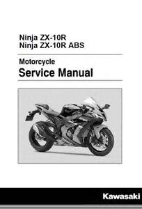 kawasaki ninja zx 10r zx10r 2016 2017 service manual on cd ebay rh ebay com 2010 Zx10r Zx10r 2017