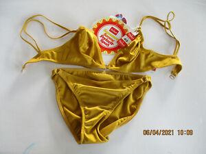 "Triumph Retro Bikini Hawaii Set Größe 40 Farbe Gold ""True Vintage"""
