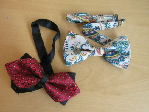 prom party  PAISLEY or RED 1 x Bow tie Tuxedo wedding BLACK FANCY DOUBLE