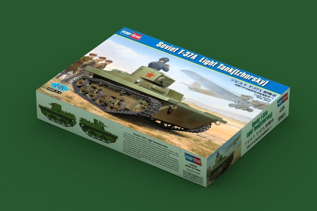 83821 Hobby Boss Soviet T-37A Amphibious Tank (Izhorsky) Armored Car 1 35 Model