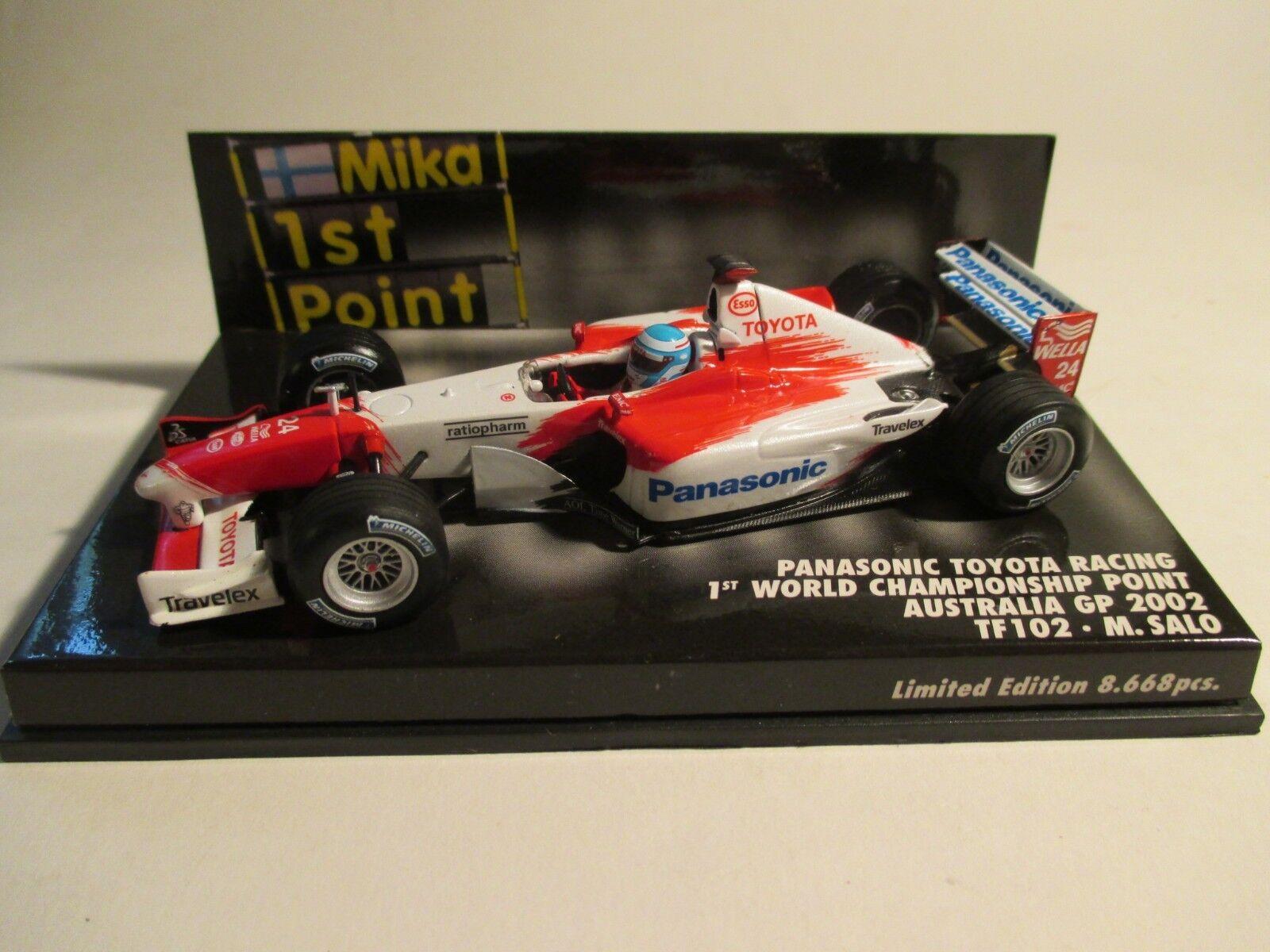 Minichamps 400020124 Toyota F1 Australia 2002 Salo 1 43 MIB