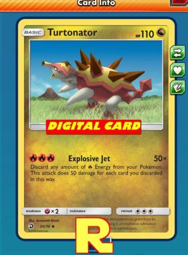 DIGITAL ptcgo in Game Card 2x Turtonator Jet - for Pokemon TCG Online