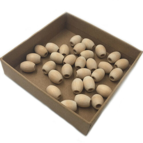 30Pcs Natural Wood Loose Teething Bead Unfinished Baby Nursing Teether Crafts