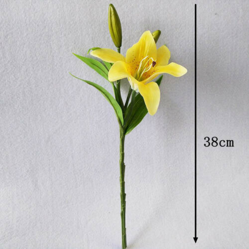 Artificial Flower Fake Lily Decorative Single Head Romantic Wedding Party Crafts