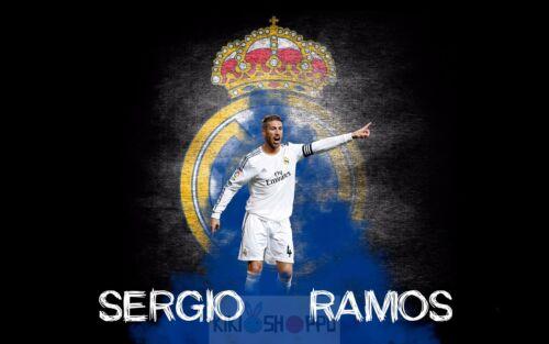 Poster A3 Sergio Ramos Real Madrid Futbol Football Cartel Deporte Sport Decor 04