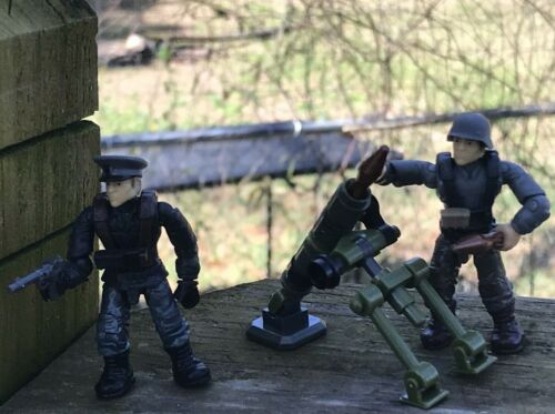 Figures #1 /& 2 From MEGA CONSTRUX CALL OF DUTY ENEMY SOLDIERS FVG04  AXIS TROOPS