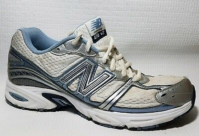 best service los angeles online here NEW BALANCE 470 V2 Running Shoes Womens 9 D Med White Blue Silver Sneakers  Walk | eBay