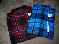 Tony Hawk Yg Mens Red/black Or Blue/black Plaid Flannel Shirtssm,m,lg$40nwt