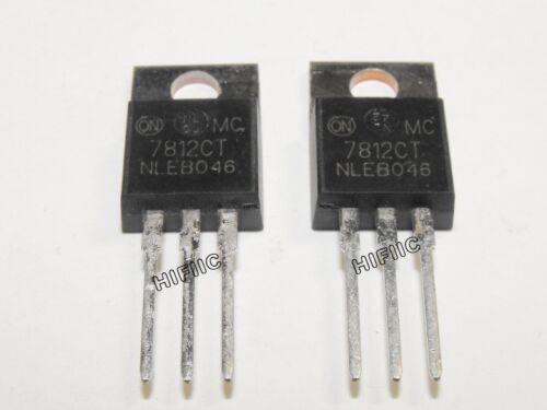 12V,±2/% 10PCS ON Semi MC7812CT 1A Voltage Regulator