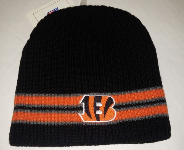 Cincinnati Bengals Knit Beanie Toque Winter Hat Skull Cap NEW Black Ribbed b67978fd3