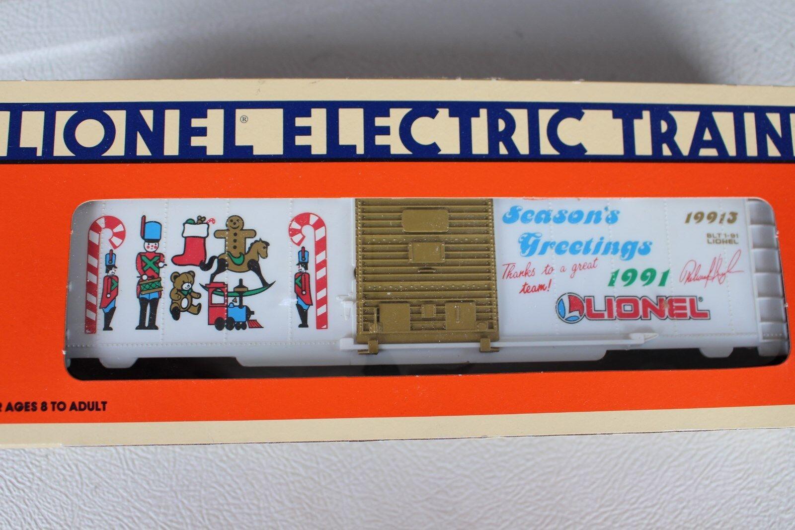1991 Lionel 6-19913 empleado de Navidad Caja Auto Feliz Navidad L2826