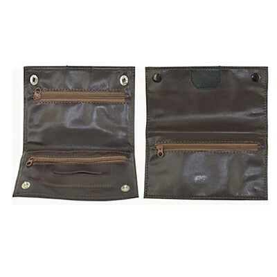 TOBACCO POUCH RIZLA SLOT SOFT PU LEATHER LINED ROLLING PAPER AND ZIPPER RANDOM