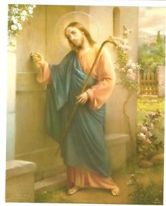 Catholic-Print-Picture-JESUS-KNOCKING-at-DOOR-Simeone-art-8x10-034-Italy