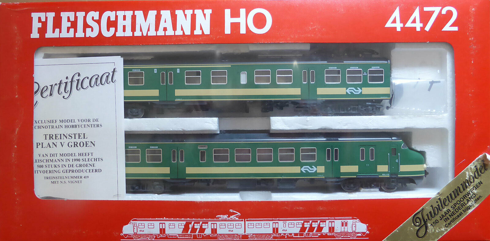 Fleischuomon 4472; elektrossoriebwagen correggerà 419 NS hondekoop in scatola originalek077