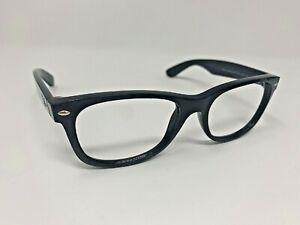 Ray-Ban-New-Wayfarer-RB-2132-901-Black-Sunglasses-Frames-55-18-145-Italy-OA46