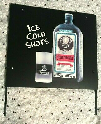 Authentic Jagermeister Tap Machine Double Sided Sign Ice Cold Shots Liquor Wow Ebay