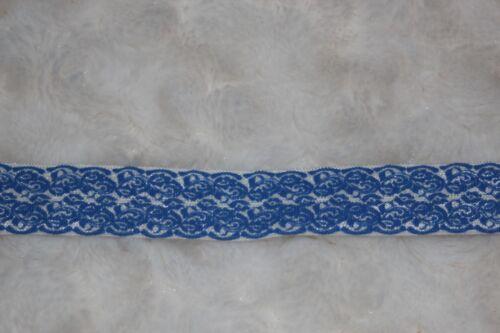 """Clearance 10 yards Royal Blue White Damask Lace Print foldover elastic FOE 5//8/"""""""