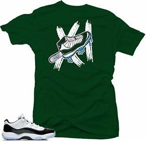 84d2b716a1f8 Shirt to Match Jordan 11 low Emerald sneakers- ICE 11 Green tee