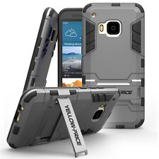 htc one m9 Case&Films,YELLOW-PRICE Shockproof Heavy Duty Armor Stand Case