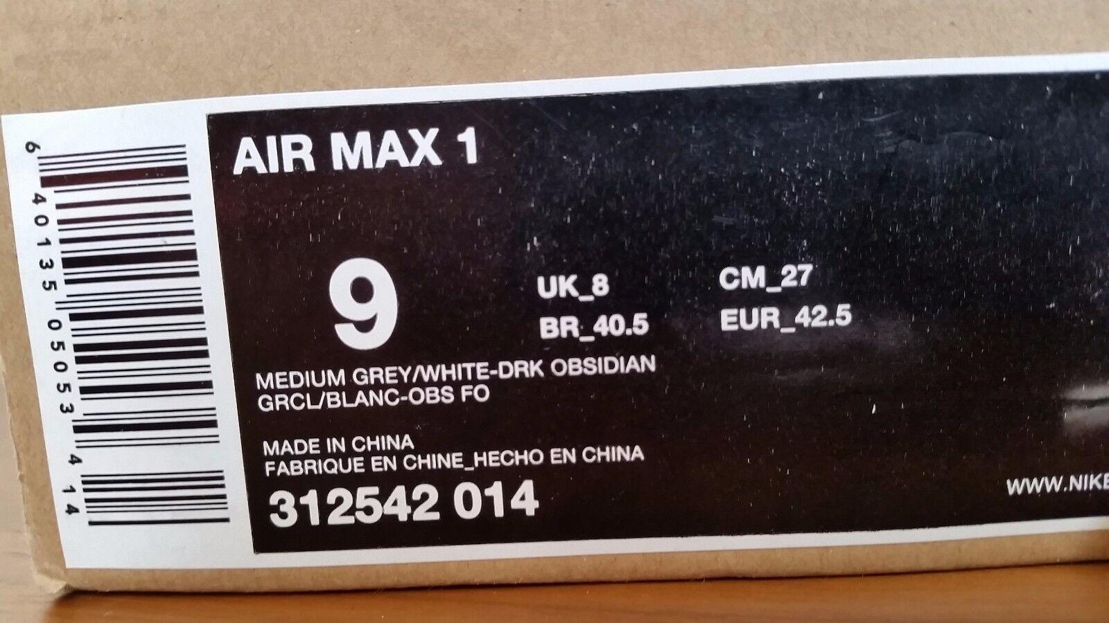 2008 1 nike air max 1 2008 312542-014 grau / obsidian. b8bfbb