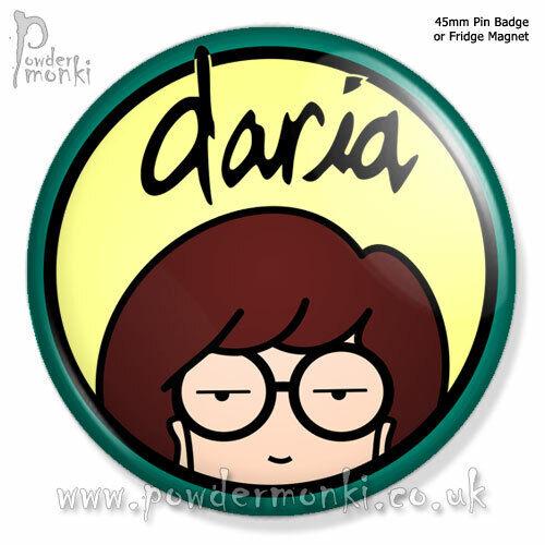 45mm DARIA ~ Retro TV Badge//Magnet