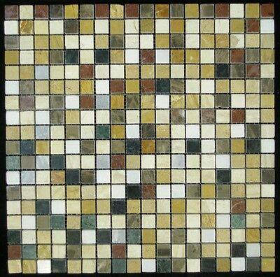 "Stone Mosaic 1/2""x1/2""x12"" stone flooring wall tile backsplash bathrooms"