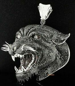 2-00-CT-Black-Round-Cut-Diamond-Panther-Face-Shape-Pendant-10K-White-Gold-Over