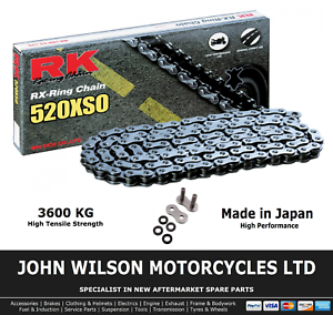 RK Racing Chain 520-SO-100 100-Links O-Ring Chain with Connecting Link