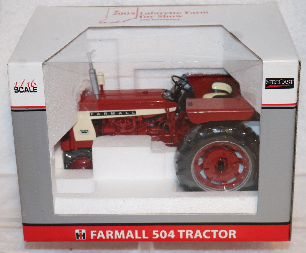 Speccast FARMALL 504 tracteur  2005 Lafayette Farm Toy Show 1 16 Scale Diecast NEUF  bas prix