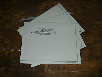 new holland l230 skid steer load eh electrical wiring diagram schematic  manual  ebay