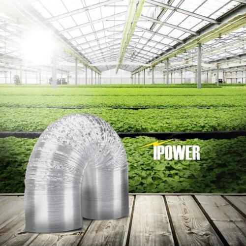"iPower 14/"" 25 Feet Non-Insulated Flex Air Aluminum Dryer Vent Hose HVAC Ducting"