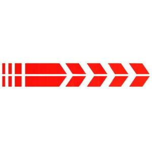 2x-Sport-Bandes-Rouge-34-cm-autocollant-sticker-racing-moto-voiture-de-course-Sport