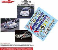 DÉCALS 1/43 réf 1403 PEUGEOT 106 LOEB  Vignoble Alsacien 1997