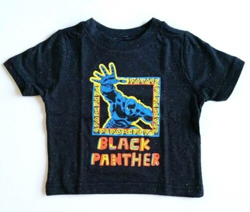 12 Months 2T Marvel Comics Retro Black Panther Tribe Outline Art Toddler T-Shirt