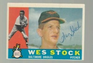 Wes-Stock-Signed-1960-Topps-Baseball-Card-Autograph-100-guaranteed-Orioles