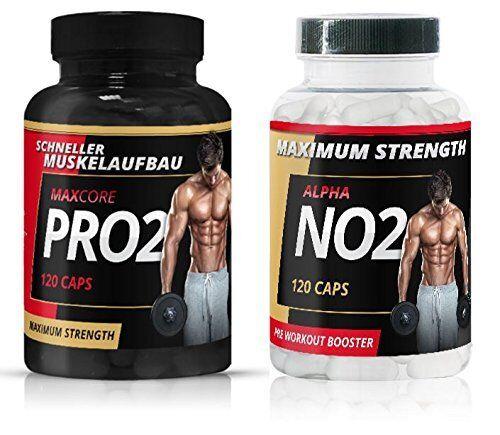 Pro2 + NO2 Brutaler Muskelaufbau extrem Pre-Workout Testosteron Booster Testosteron Pre-Workout Booster a10e49