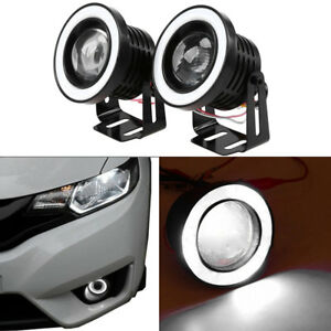 2X2-5-034-Car-Projector-LED-Fog-Light-COB-Halo-Angel-Eye-Ring-DRL-Driving-Lamp-Bulb