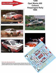 DECALS 1//43 REF 2137 OPEL MANTA TCHINE RALLYE MONTE CARLO 1985 WRC RALLY