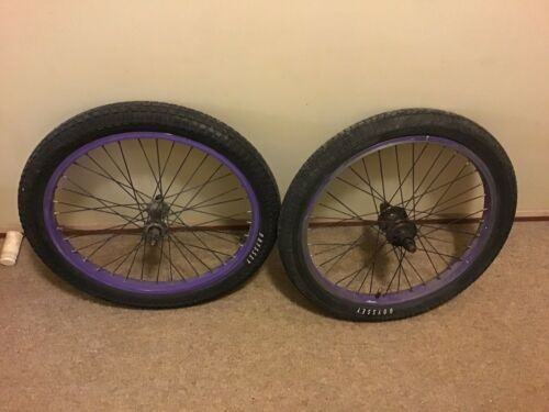Stolen Purple Bmx Wheelset 14 Mm 10 Mm 9 Tooth WTP Kink Colony