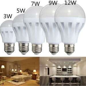 3W-5W-9W-E27-Energy-Saving-LED-Bulbs-Light-Lamp-Pure-Warm-White-DC-12V-Home