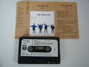 THE-BEATLES-HELP-CASSETTE-TAPE-1964-PAPER-LABEL-EMI-PARLOPHONE-UK