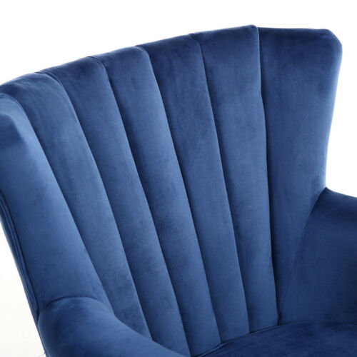 Occasional Chesterfield Velvet Lounge Armchair Wing Back Single Chair Home UK Coffee,Wine Red,Grey,Blue