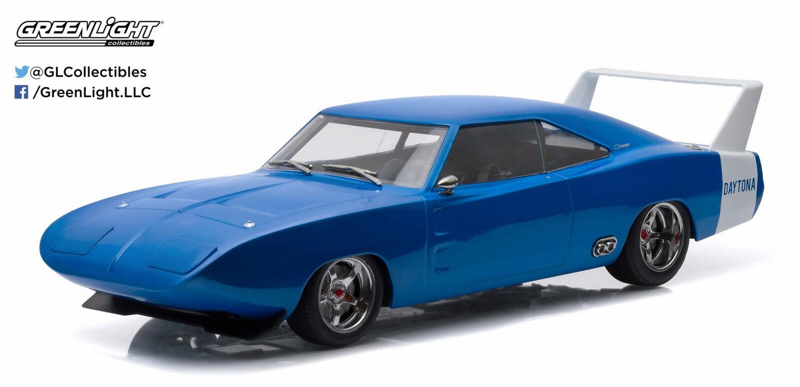 despacho de tienda 1 18 Artisan Collection - 1969 Dodge Dodge Dodge Charger Daytona Personalizado-Azul y blancoo  ventas directas de fábrica