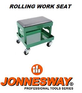 Creeper Seat Mechanics Rolling Work Stool Chair Auto Work Shop Garage Gear Tray