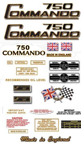 1968-73 Decal Sets Norton Commando 750cc